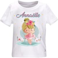Tee shirt bébé Ballerine Danse personnalisé avec le prénom de votre choix