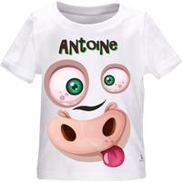 Tee shirt bébé Animal rigolo personnalisé avec le prénom de votre choix