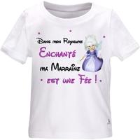 Tee shirt bébé Dans mon royaume enchanté, ma marraine est une fée !