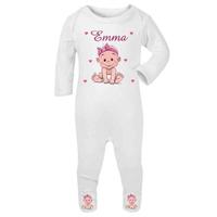 Pyjama bébé Fille personnalisé avec le prénom de votre choix