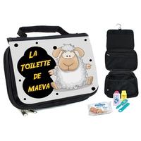 Trousse de toilette bébé Mouton personnalisée avec prénom