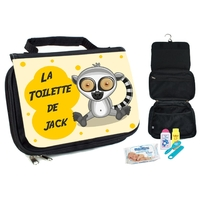 Trousse de toilette bébé Lémurien personnalisée avec prénom