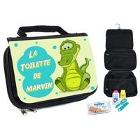 Trousse de toilette bébé Crocodile personnalisée avec prénom