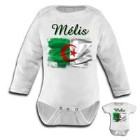 Body bébé Algérie personnalisé avec le prénom de votre choix