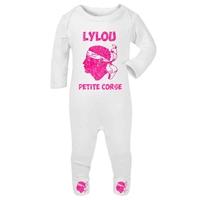 Pyjama bébé Corse personnalisé avec le prénom de votre choix