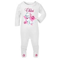 Pyjama bébé Chat de princesse personnalisé avec le prénom de votre choix