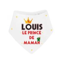 Bavoir bébé bandana Prince de maman personnalisé avec prénom