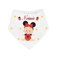 Bavoir bébé bandana Fille personnalisé avec prénom