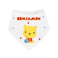 Bavoir bébé bandana Petit ourson personnalisé avec prénom