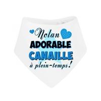 Bavoir bébé bandana Adorable canaille personnalisé avec prénom