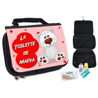 Trousse de toilette bébé Ours personnalisée avec prénom