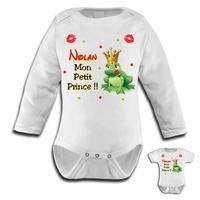 Body bébé Crapaud Mon petit prince personnalisé avec le prénom de votre choix
