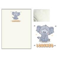 Plaid bébé Eléphant personnalisé avec le prénom de votre choix