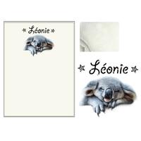 Plaid bébé Koala personnalisé avec le prénom de votre choix