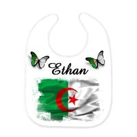 Bavoir bébé Algérie personnalisé avec prénom
