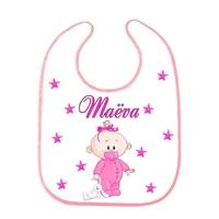 Bavoir bébé Fille personnalisé avec prénom