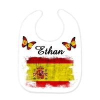 Bavoir bébé Espagne personnalisé avec prénom