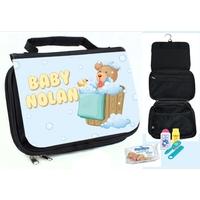 Trousse de toilette bébé Ourson personnalisée avec prénom