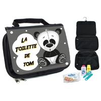 Trousse de toilette bébé Panda personnalisée avec prénom