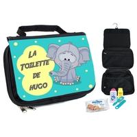 Trousse de toilette bébé Elephant personnalisée avec prénom