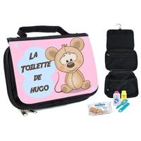 Trousse de toilette bébé Souris personnalisée avec prénom