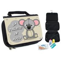 Trousse de toilette bébé Koala personnalisée avec prénom