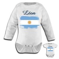 Body bébé Argentine personnalisé avec le prénom de votre choix