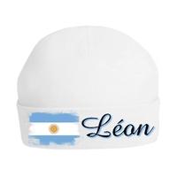 Bonnet de naissance Argentine personnalisé avec prénom