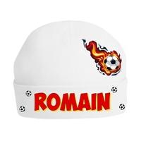 Bonnet de naissance Football personnalisé avec prénom