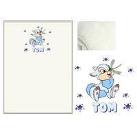 Plaid bébé Lapin bleu personnalisé avec le prénom de votre choix