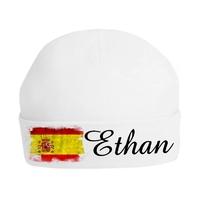 Bonnet de naissance Espagne personnalisé avec prénom