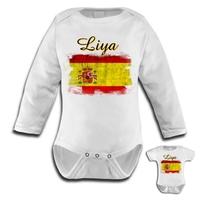 Body bébé Espagne personnalisé avec le prénom de votre choix