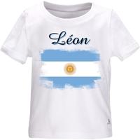 Tee shirt bébé Argentine personnalisé avec le prénom de votre choix