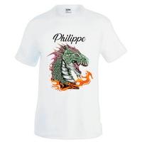 Tee shirt homme Dragon personnalisé avec prénom