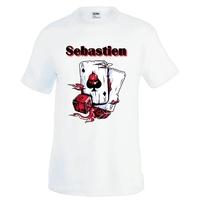Tee shirt homme Casino cartes poker personnalisé avec prénom