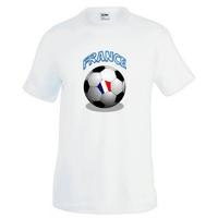 Tee shirt homme Ballon de football FRANCE