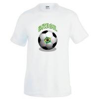 Tee shirt homme Ballon de football BRESIL