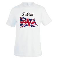 Tee shirt homme Anglais personnalisé avec prénom