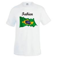 Tee shirt homme Brésil personnalisé avec prénom