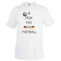 Tee shirt homme humour Je peux pas j'ai football....ALLEMAGNE