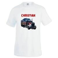 Tee shirt homme Camion Routier personnalisé avec prénom