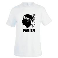 Tee shirt homme Corse personnalisé avec prénom
