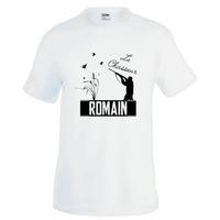 Tee shirt homme Chasse Chasseur personnalisé avec prénom