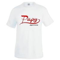 Tee shirt homme Papy depuis... personnalisé avec année