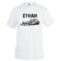 Tee shirt homme Formule 1 personnalisé avec prénom