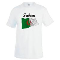 Tee shirt homme Algérie personnalisé avec prénom