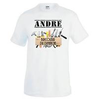 Tee shirt homme Bricolage Bricoleur du dimanche personnalisé avec prénom