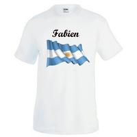 Tee shirt homme Argentine personnalisé avec prénom