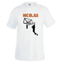 Tee shirt homme Basketball personnalisé avec prénom