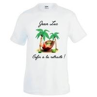 Tee shirt homme Enfin à la retraite personnalisé avec prénom